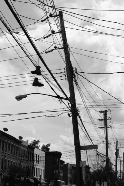 Shoes and powerlines
